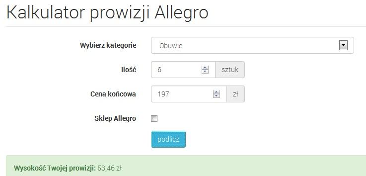 Jak Wyliczyc Prowizje Na Allegro