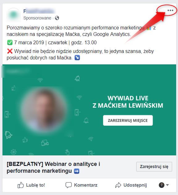 anliza reklam konkurencji na facebooku